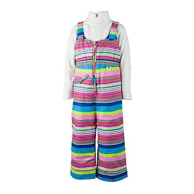 Obermeyer Snoverall Print Toddler Girls Ski Pants, Carnival Stripe, viewer