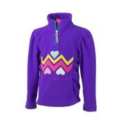 Obermeyer Ric-Rac Fleece Kids Midlayer, Iris Purple, medium
