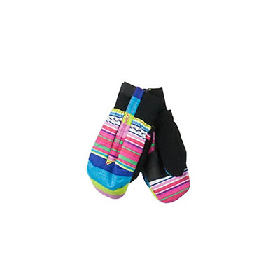 Obermeyer Thumbs Up Print Toddlers Mittens, Carnival Stripe, viewer