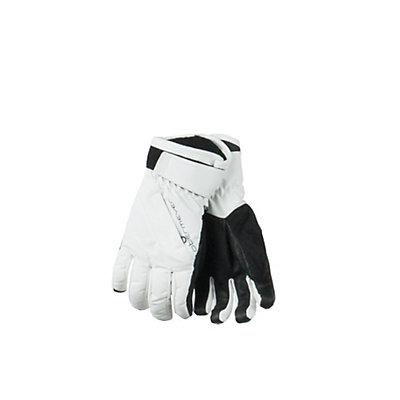 Obermeyer Alpine Girls Gloves, White, viewer
