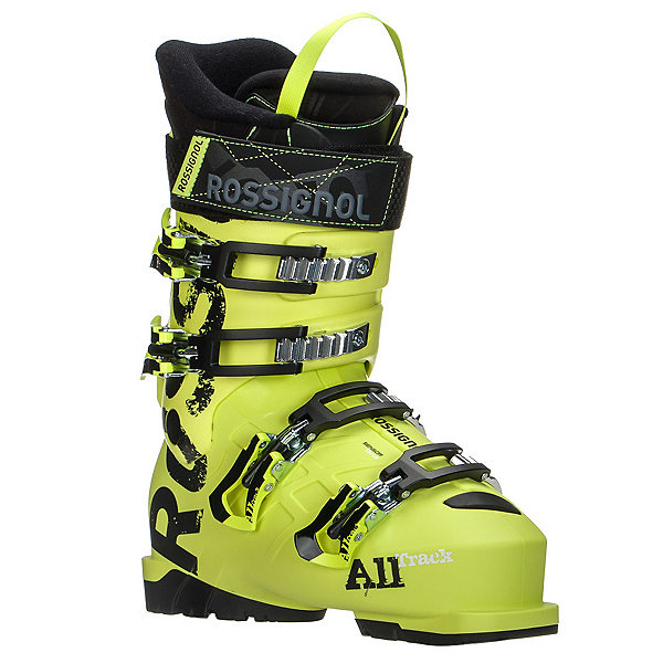 Rossignol AllTrack Jr. 80 Kids Ski Boots, Acid Yellow, 600