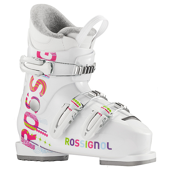 Rossignol Fun Girl J3 Girls Ski Boots, White, 600
