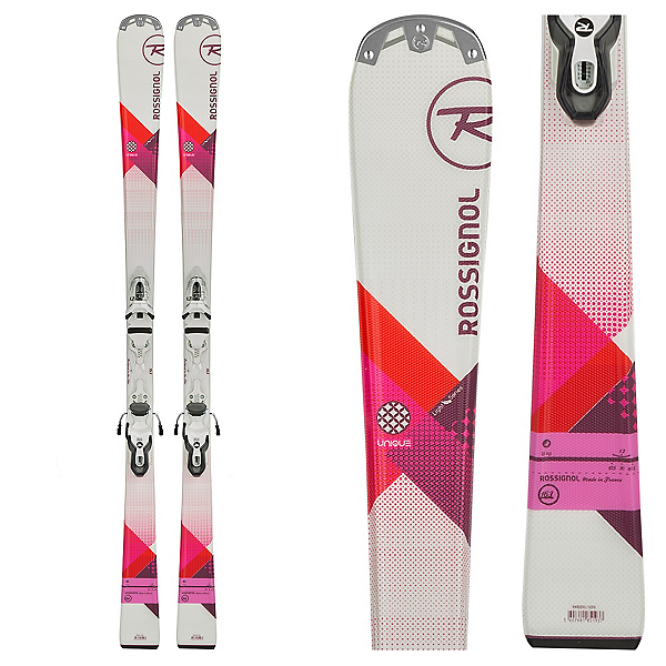 Rossignol Unique Womens Skis with Xelium Saphir 100 Bindings, , 600