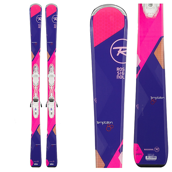 Rossignol Temptation 80 Womens Skis with Xelium Saphir 110 Bindings, , 600