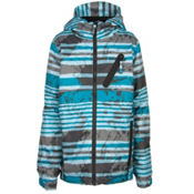 686 Trail Boys Snowboard Jacket, Blue Stripe, medium