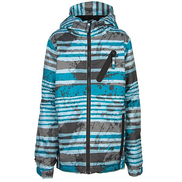 686 Trail Boys Snowboard Jacket, Blue Stripe, 600