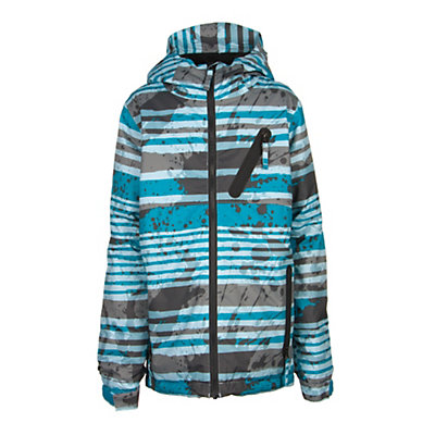 686 Trail Boys Snowboard Jacket, Blue Stripe, viewer