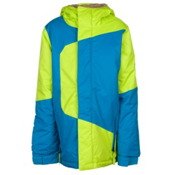 686 Blaze Boys Snowboard Jacket, Lime Colorblock, medium