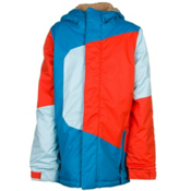 686 Blaze Boys Snowboard Jacket, Blue Colorblock, medium
