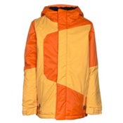 686 Blaze Boys Snowboard Jacket, Orange Colorblock, medium
