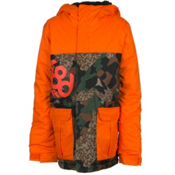 686 Elevate Boys Snowboard Jacket, Army Cubist Camo Colorblock, medium