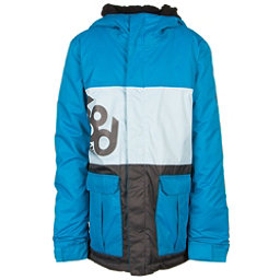 686 Elevate Boys Snowboard Jacket, Blue Colorblock, 256