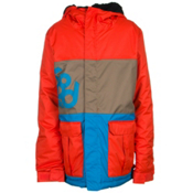 686 Elevate Boys Snowboard Jacket, Burnt Orange Colorblock, medium
