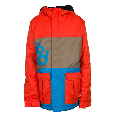 686 Elevate Boys Snowboard Jacket, Army Cubist Camo Colorblock, viewer