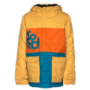 686 Elevate Boys Snowboard Jacket, Yellow Colorblock, medium