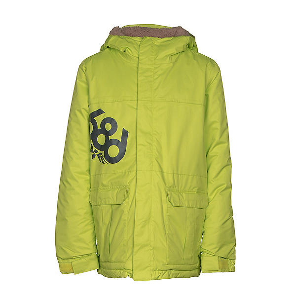 686 Elevate Boys Snowboard Jacket, Lime, 600