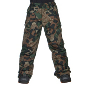 686 All Terrain Kids Snowboard Pants, Army Cubist Camo, medium