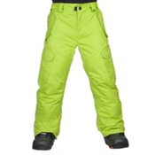 686 All Terrain Kids Snowboard Pants, Lime, medium