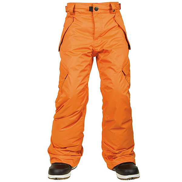 686 All Terrain Kids Snowboard Pants, Orange, 600
