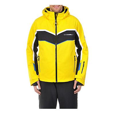 Volkl Yellow Rush Mens Insulated Ski Jacket, Yellow-Black, viewer