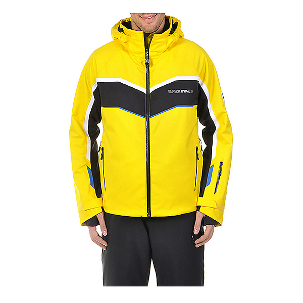 Volkl Yellow Rush Mens Insulated Ski Jacket, Yellow-Black, 600