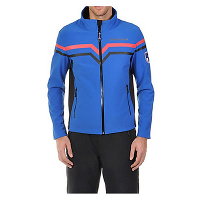 Volkl Yellow Mens Soft Shell Jacket, Blue-Black, viewer