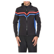Volkl Yellow Mens Soft Shell Jacket, Black-Blue, medium