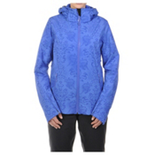 Volkl Silver Star Womens Insulated Ski Jacket, Blue Lace Print, medium