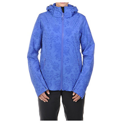 Volkl Silver Star Womens Insulated Ski Jacket, Blue Lace Print, viewer