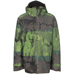 Volkl Khula Mens Insulated Ski Jacket, Raw Grasshopper Print, 256
