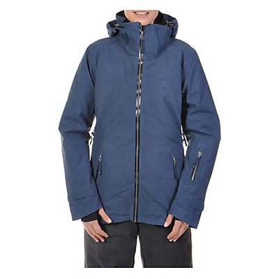 Volkl Manu Womens Insulated Ski Jacket, Denim Wax, viewer