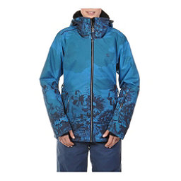 Volkl Manu Womens Insulated Ski Jacket, Wild Thing Denim Print, 256