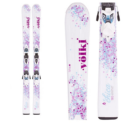 Volkl Chica Jr. Kids Skis with Marker 3Motion 4.5 Bindings, , viewer
