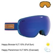 Spy Doom Goggles 2016, Heritage Gray-Happy Bronze with Dark Blue Spectra + Bonus Lens, medium
