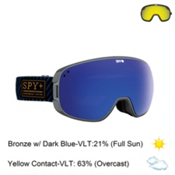 Spy Bravo Goggles 2016, Undercover Blue-Bronze with Dark Blue Spectra + Bonus Lens, medium
