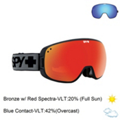 Spy Bravo Goggles 2016, Black-Bronze with Red Spectra + Bonus Lens, medium