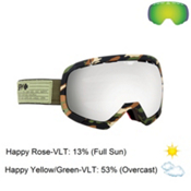 Spy Platoon Goggles 2016, Fatigue-Happy Gray Green with Silver Mirror + Bonus Lens, medium
