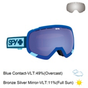 Spy Platoon Goggles 2016, Elemental Blue-Blue Contact + Bonus Lens, medium