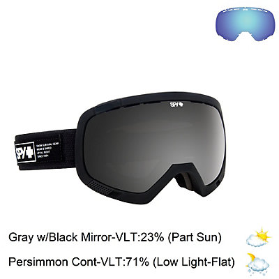 Spy Platoon Goggles, Fatigue-Happy Gray Green with Silver Mirror + Bonus Lens, viewer
