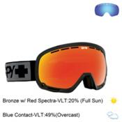 Spy Marshall Goggles 2016, Black-Bronze with Red Spectra + Bonus Lens, medium