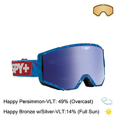 Spy Ace Goggles, Spy + Louie Vito-Happy Bronze + Bonus Lens, viewer