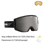 Spy Ace Goggles 2016, Nocturnal-Gray with Black Mirror + Bonus Lens, medium