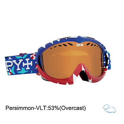 Spy Targa Mini Kids Goggles, Hide And Seek-Persimmon, viewer