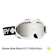 Spy Targa Mini Kids Goggles 2016, White-Bronze with Silver Mirror, medium