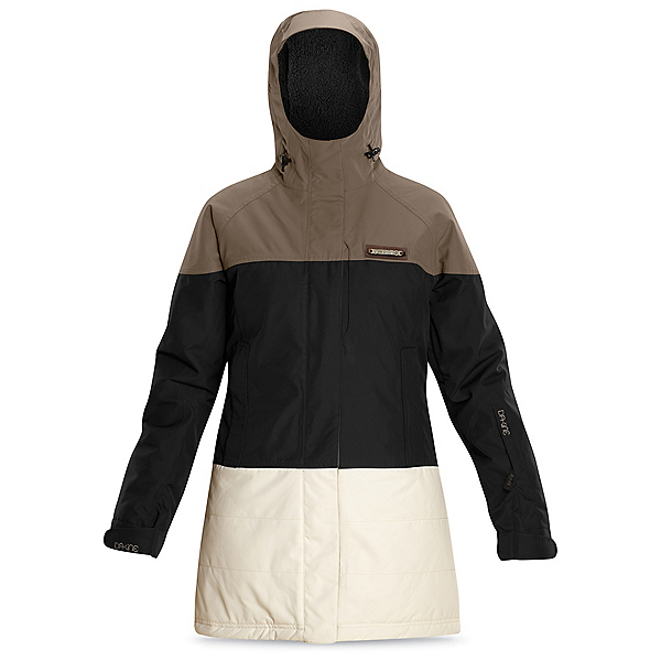 Dakine Sidney Womens Insulated Ski Jacket, Falcon-Black-Turtledove, 600