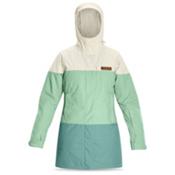 Dakine Sidney Womens Insulated Ski Jacket, Turtledove-Greyed Jade-Mineral, medium
