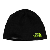 The North Face Youth Bones Kids Hat, TNF Black-Safety Green, medium