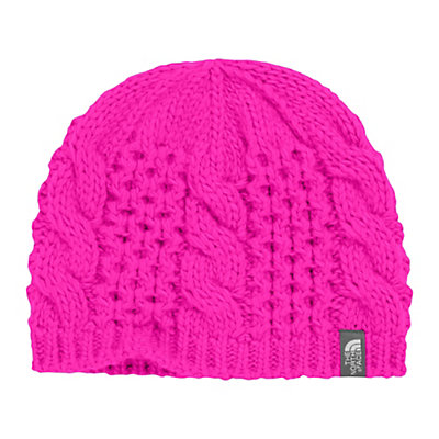 The North Face Youth Cable Minna Kids Hat, Luminous Pink, viewer