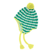 The North Face Fuzzy Earflap Kids Hat, Kokomo Green, medium
