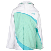 The North Face Mountain View Triclimate Girls Ski Jacket, Surf Green, medium